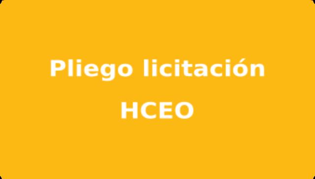 imagen de Pliego licitación HCEO