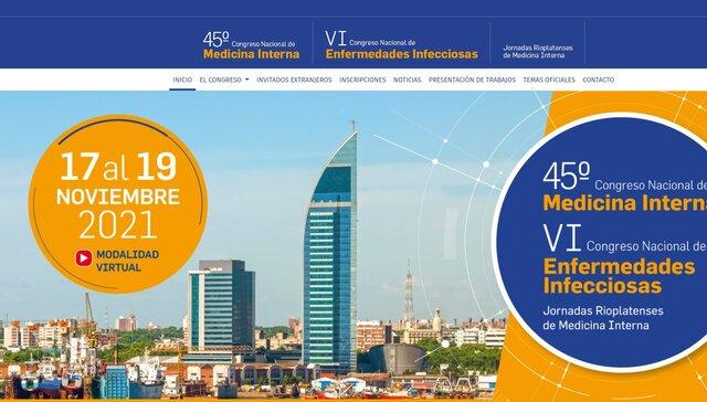 imagen de 45º CONGRESO NACIONAL DE MEDICINA INTERNA - VI CONGRESO NACIONAL DE ENFERMEDADES INFECCIOSAS